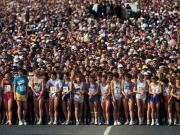 Numerosi partecipanti ad una maratona
