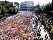 La Maratona di Roma raccoglie un grande numero di atleti