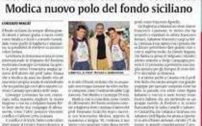 Da sinistra: Vincenzo Lorefice, l'allenatore Salvo Pisana, Giuseppe Gerratana