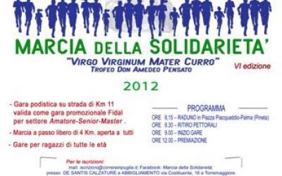 """Il 4 Novembre a Torremaggiore si terrà la 6° edizione della """"Marcia della Solidarietà"""""""