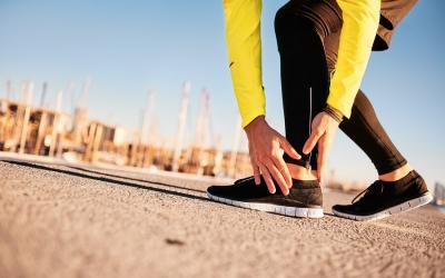 Runner accusa dolore al tendine d'Achille