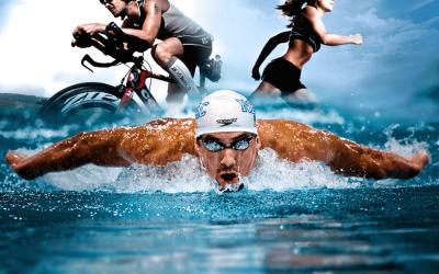 Le tre discipline caratterizzanti il triathlon: nuoto, ciclismo e corsa