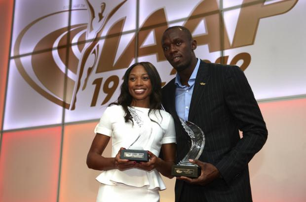 Usain Bolt e Allyson Felix, World Athletes of the Year 2012