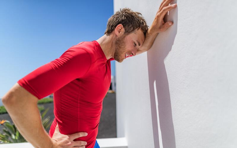 Colpo della strega in un runner